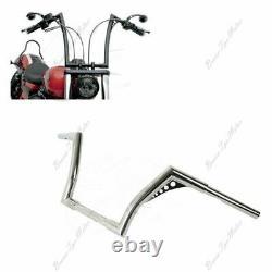 Chrome 1-1/4 Fat 12 Rise Ape Hanger Handlebar For Harley Sportster Softail
