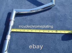 Chrome 12 DNA MONSTER FAT APE HANGER BARS WIDE 1-1/2 HARLEY HANDLEBARS Dyna