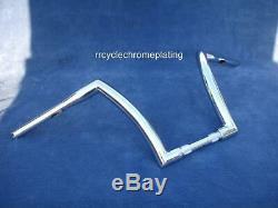 Chrome 12 Dna Monster Ape Hanger Bar Fat 1-1/2 Harley Handlebars Dyna Fxd
