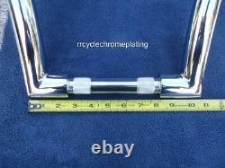 Chrome 12 Dna Monster Ape Hanger Bar Fat 1-1/2 Harley Handlebars Dyna Fxdl