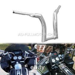 Chrome 12 Rise Ape Hanger Handlebar Fit For Harley Heritage Softail Fat Boy CVO