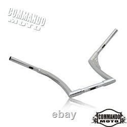 Chrome 12 Rise Ape Hangers Handlebars Fat 1-1/4 Bars For Harley FLST FXST New