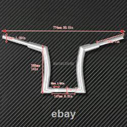 Chrome 14'' Rise Ape Hanger Handlebar Fit For Harley Softail Fat Boy 2015-20