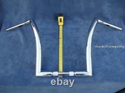 Chrome 16 Dna Monster Ape Hanger Bars Wide Fat Bar 1-1/2 Harley Road King Flhr