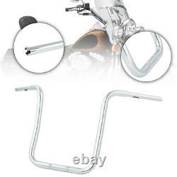 Chrome 18 Rise Ape Hanger Bar Fat 1-1/4 Handlebar For Harley Sportster Custom