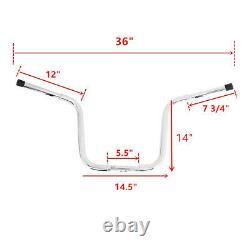 Chrome Ape Hangers Bar 1 1/4'' Fat 14 Rise Handlebar Fit For Harley Sportster