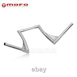 Chrome Ape Hangers Bars Fat 1 1/4 12 Rise Handlebars For Harley Sportster XL