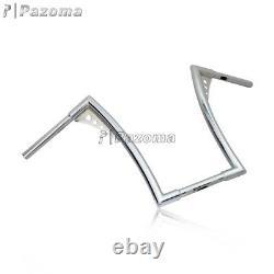 Chrome Ape Hangers Bars Fat 1-1/4 16 Rise Handlebars For Harley FLST FXST XL