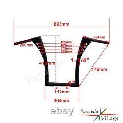 Chrome EL Diablo Ape Hangers Bars Fat 1-1/4 16 Rise Handlebars For Harley XL