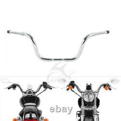 Chrome FAT 1-1/4 10 Ape Hanger Handlebar Fit Harley FLST FXST Sportster XL