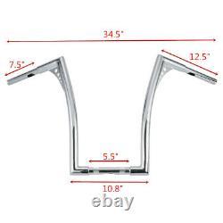 Chrome Fat 1-1/4 18 Rise Ape Hanger Handlebar For Harley Softail Standard Dyna