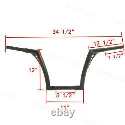 Convenient 1''Fat 12 Rise Ape Hangers Handlebar For Harley Softail Sportster XL