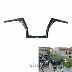 Custom 1'' Fat 10 Rise Ape Hangers Handlebar For Harley Softail Sportster Dyna