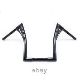 Custom Black Motorcycle Handle Bar Ape Hangers 1-1/4 Fat Bars 16 Rise Handlebar