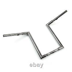 Custom Chrome Ape Hangers Bars Fat 1 14 Rise Handlebars For Harley Sportster B4