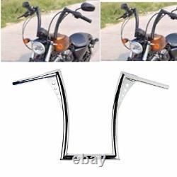 Custom Chrome Ape Hangers Fat 1-1/4 16rise Handlebars For Harley Flst Fxst XL