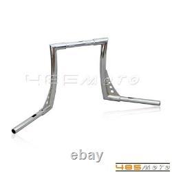 Motorcycle 12 Rise Handlebars Ape Hangers Fat 1-1/4 Bars For Harley FLST FXST