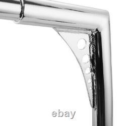 NEW Chrome Fat 18 Rise Ape Hanger Handlebar For Harley Softail Standard Dyna KN