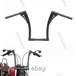 New Black Iron Rise 1-1/4 Handlebar Motorcycle APE Hanger Bar Fat For Harley TP