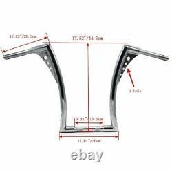 Refit Universal 16 RISE HANDLEBARS For HARLEY 1 Chrome APE HANGERS FAT BARS TP
