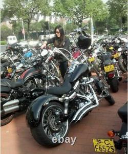Vintage 1-1/4 King Apes Ape Hanger 16 Handlebars for Harley 1 Fat Bars New